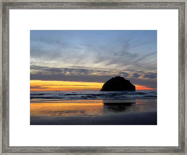 Face Rock Streaks Framed Print