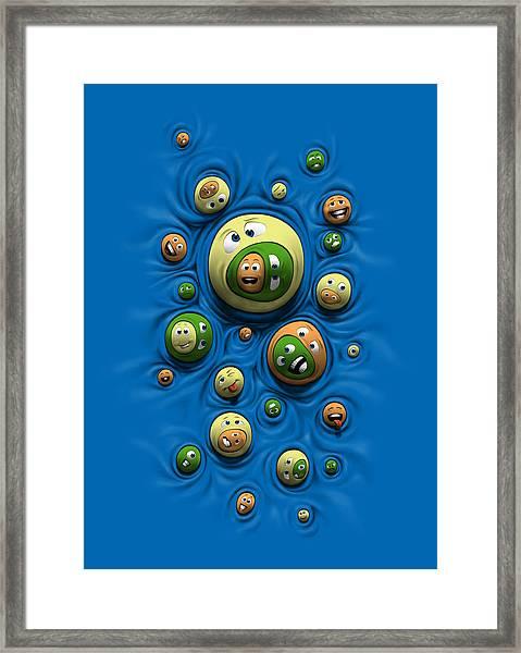 Emoticontagious Framed Print