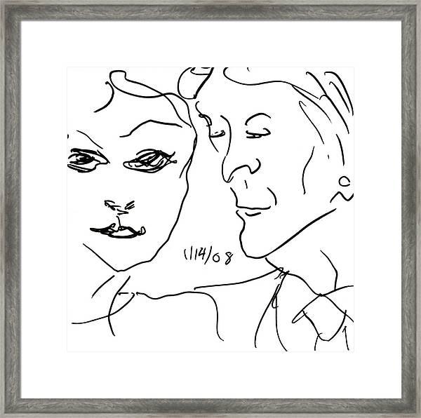 Faces II Framed Print