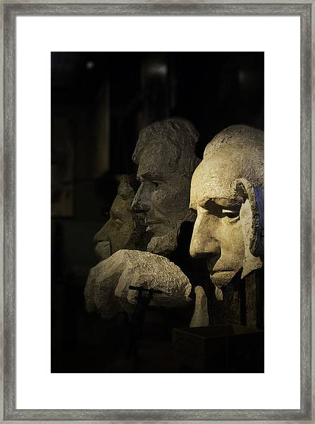 Faces Of Rushmore Framed Print