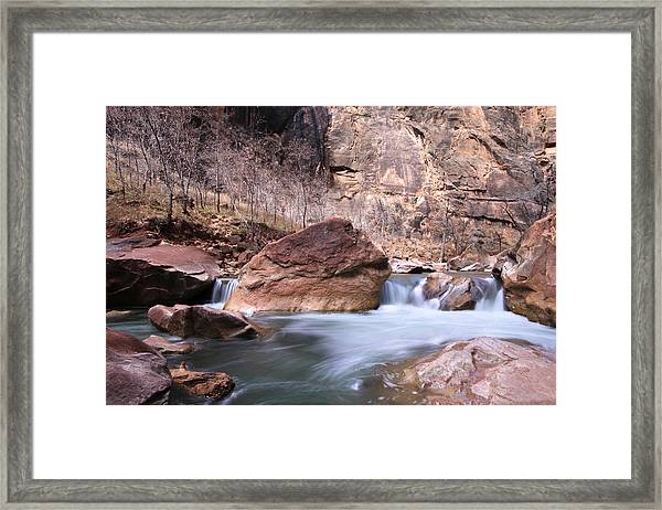 Faces On The Wall Framed Print by Darryl Wilkinson
