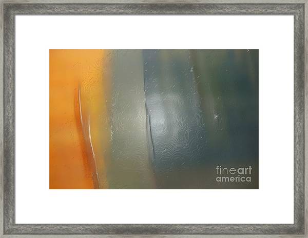 Fade To Gold Framed Print