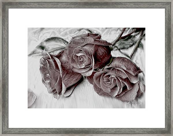 Faded Love Framed Print