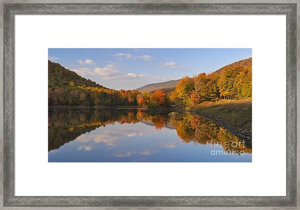 Fading Light On Searsburg Reservoir Framed Print