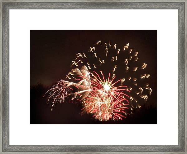 Faerie In The Fireworks Framed Print