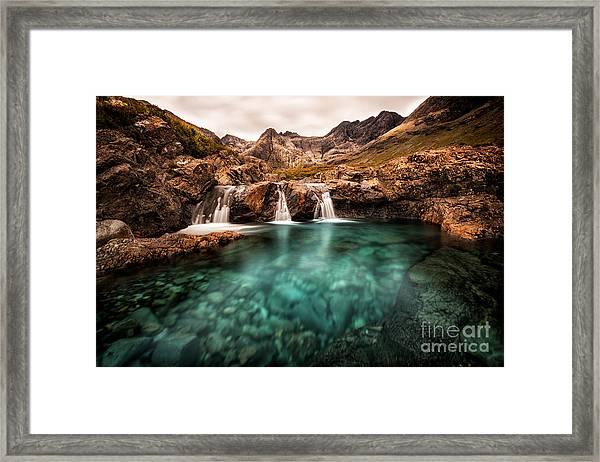 Faerie Pools Framed Print by Matt  Trimble