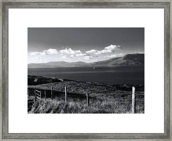 Fahane In Black And White Framed Print