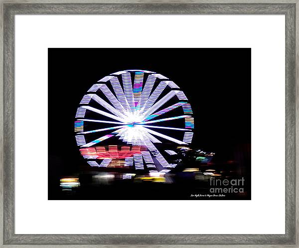 Fair Night Ferris Framed Print
