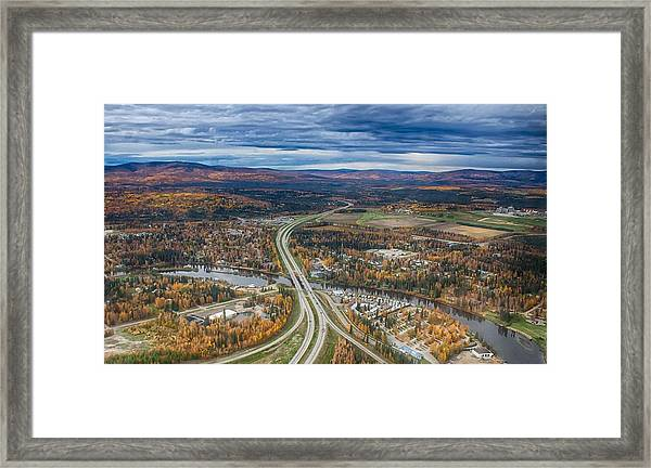 Fairbanks Alaska The George Parks Highway Framed Print