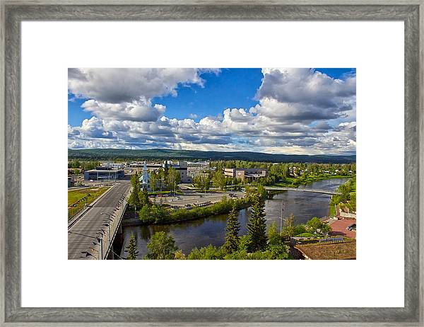 Fairbanks Alaska The Golden Heart City 2014 Framed Print