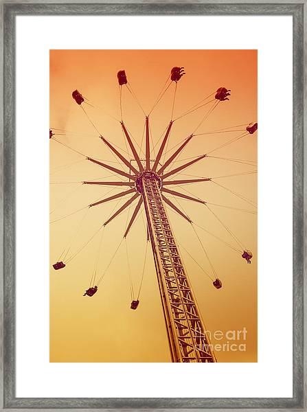 Fairground Ride Framed Print