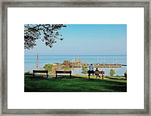 Fairhope Alabama Pier Framed Print