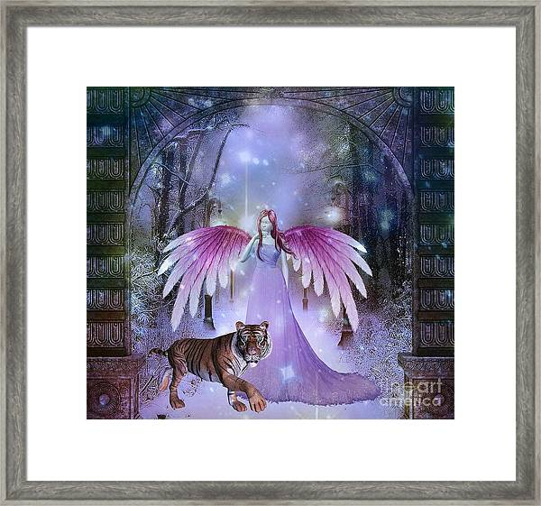 Fairy And Tiger Framed Print
