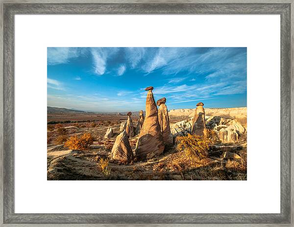 Fairy Chimneys In Cappadocia Framed Print by ArdaAdnanKalkan