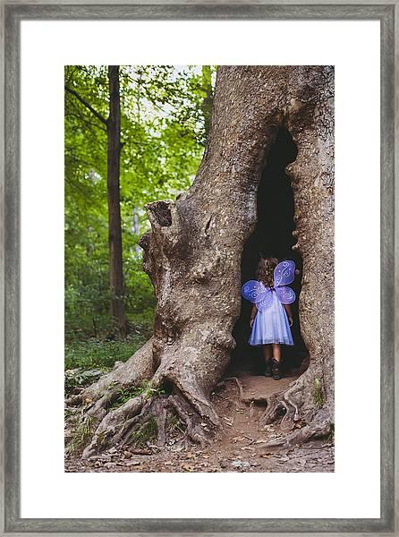 Fairy House Framed Print by Vanessa Lassin Photography