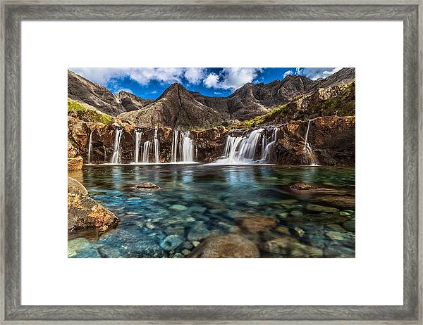 Fairy Pools Framed Print by Sergio Del Rosso Photography
