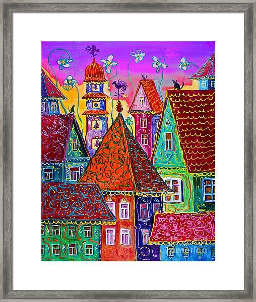 Magic Town Framed Print