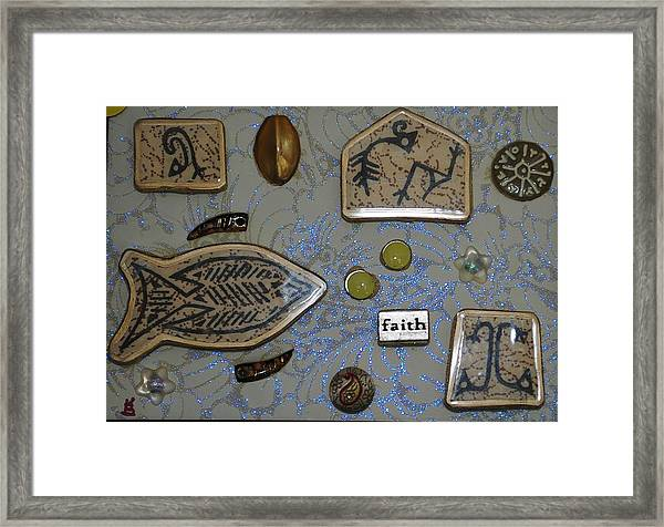 Faith Collage Framed Print