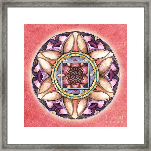 Faith Mandala Framed Print