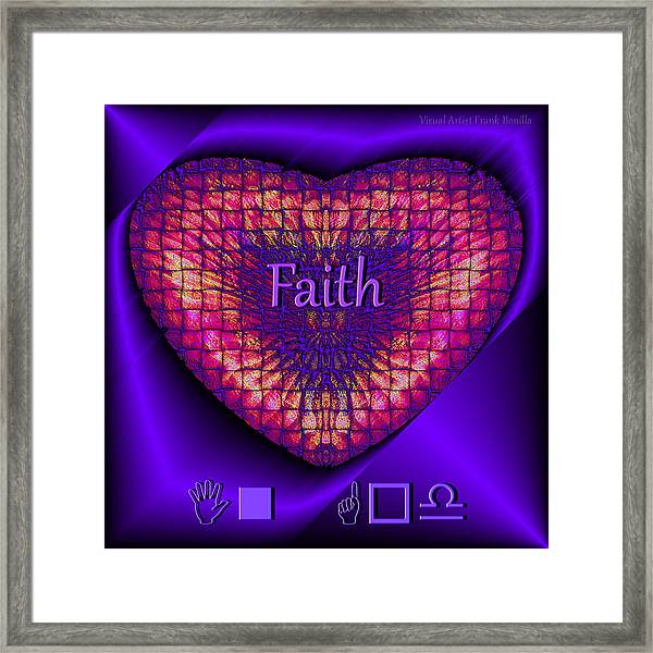 Framed Print featuring the digital art Faith by Visual Artist Frank Bonilla
