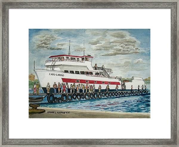 Fajardo Ferry From Vieques Puerto Rico Framed Print