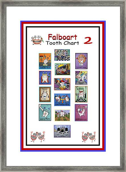 Falboart Tooth Chart Number 2 Framed Print