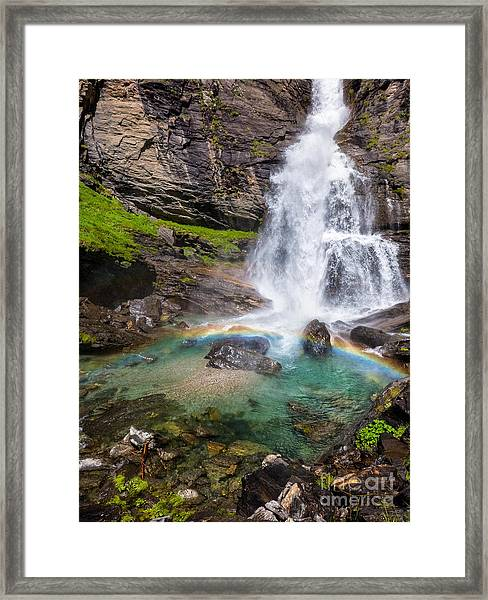 Fall And Rainbow Framed Print