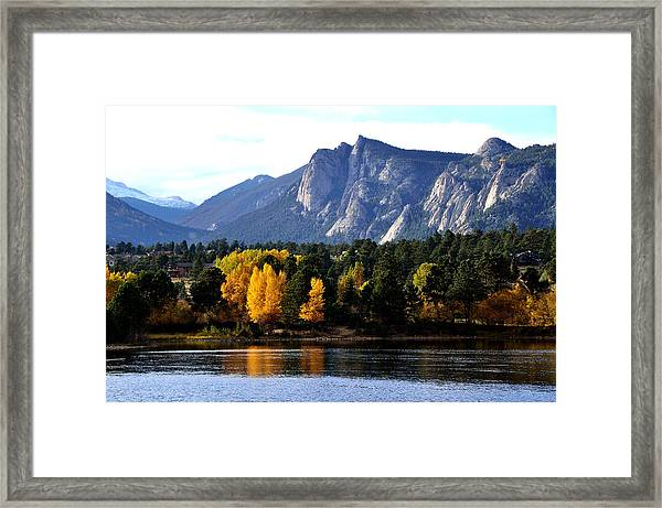 Fall At Lake Estes Framed Print