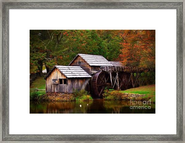Fall At Mabry Mill Framed Print