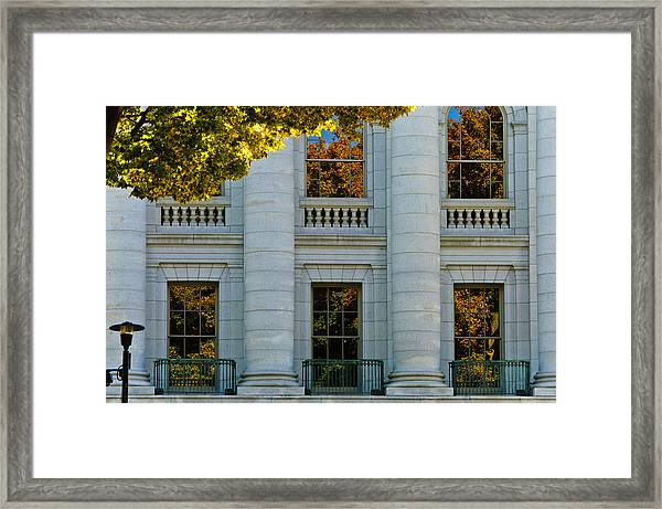 Fall At The Capitol Framed Print