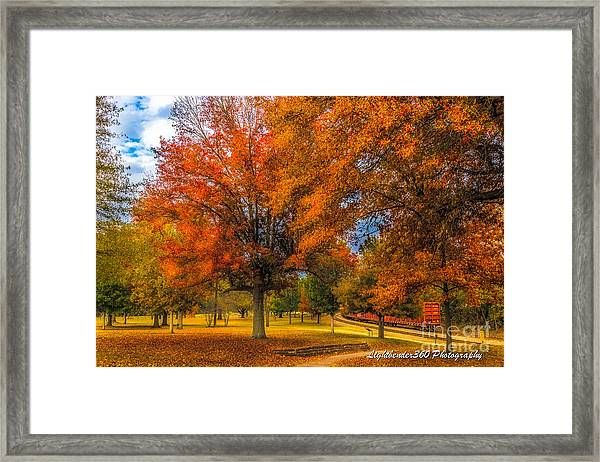 Fall At The Fort Framed Print