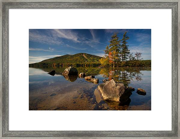 Fall At The Mountain Framed Print
