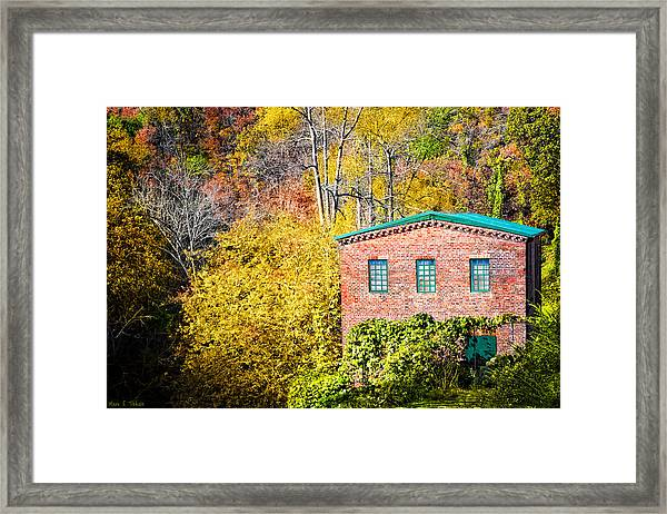 Fall At The Old Mill In Roswell Framed Print