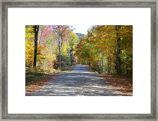 Fall Backroad Framed Print