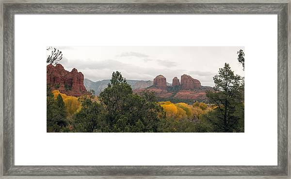 Fall Color Sedona 0495 Framed Print