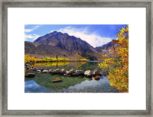 Fall Colors At Convict Lake  Framed Print