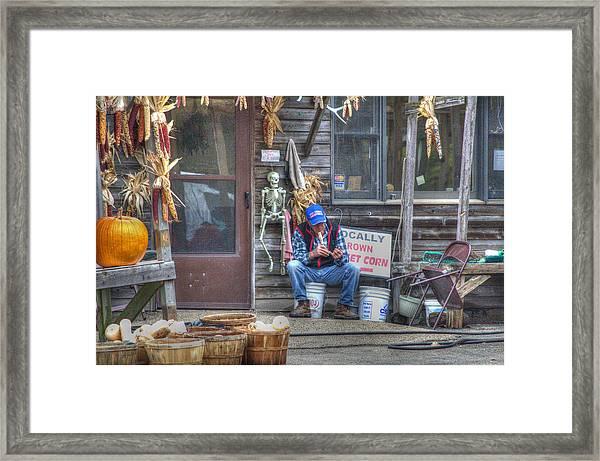 Fall Farmer's Market Framed Print