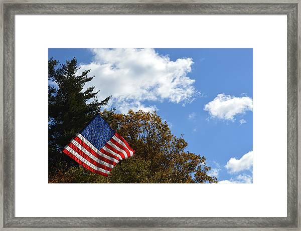 Fall Flag Framed Print