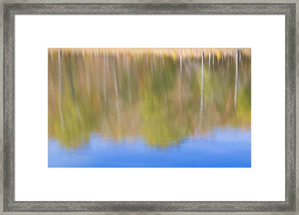 Fall Foliage Reflected In Lake Framed Print