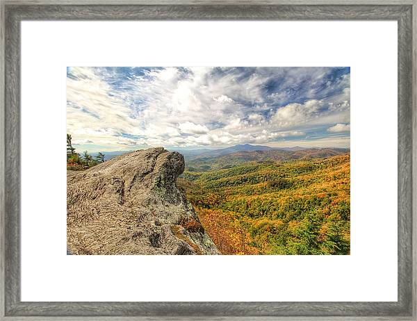 Fall From The Blowing Rock Framed Print
