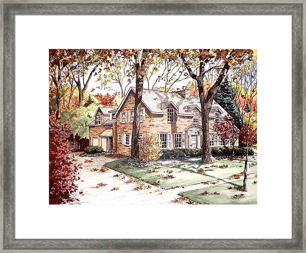 Fall Home Portriat Framed Print