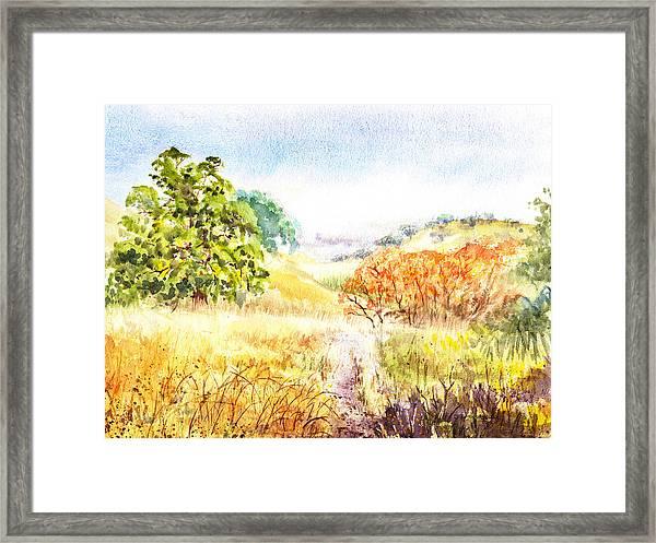 Fall Landscape Briones Park California Framed Print