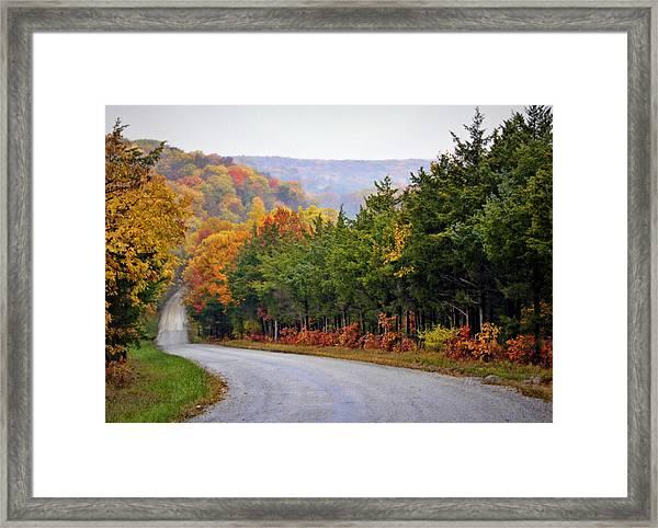Fall On Fox Hollow Road Framed Print