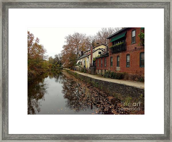 Fall On The Canal Framed Print