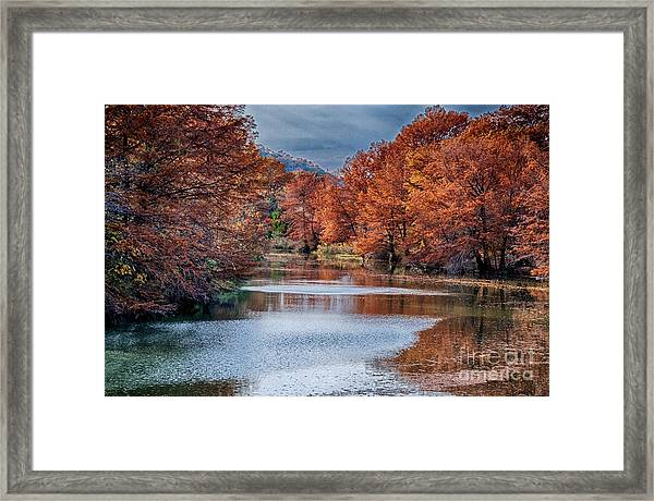 Fall On The Guadalupe Framed Print