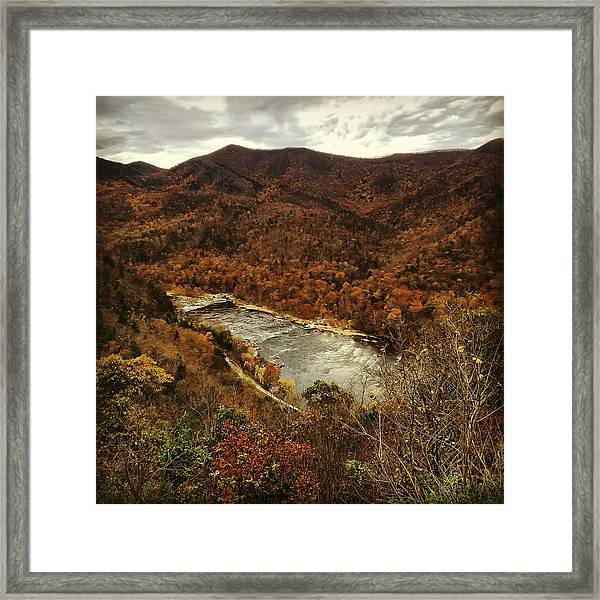 Fall On The Maury Framed Print