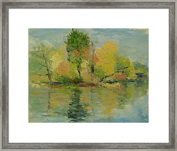 Fall On The Pond Framed Print