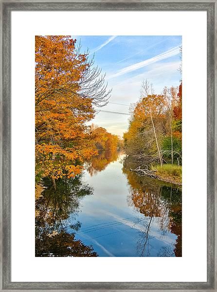 Fall On The Red Cedar  Framed Print