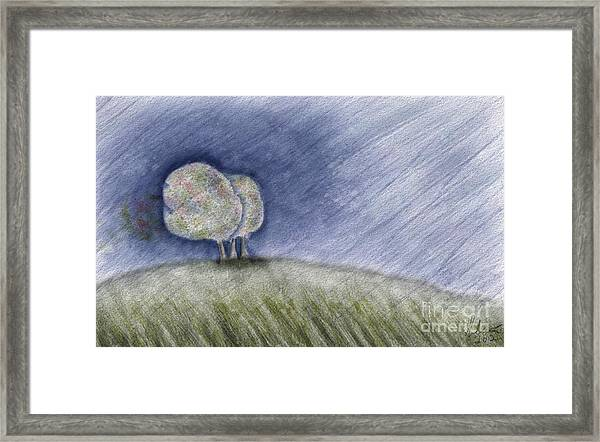 Fall Rain Framed Print
