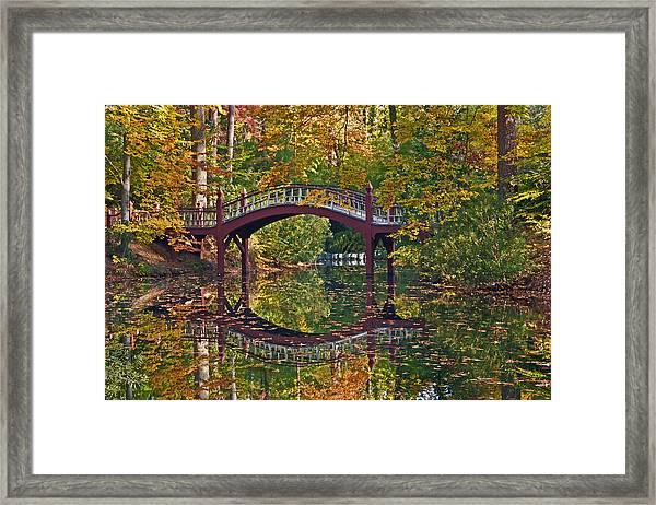 Fall Reflections At Crim Dell Framed Print